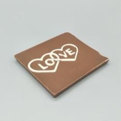 Smally - Love with heart | 巧克力与消息 | 1/2 瑞士莲巧克力棒酒吧 | 巧克力礼品 | 较小的场合