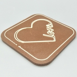 Designy - I love you| Schokolade mit Nachricht | 100& Lindt-Tafel | Schokoladengeschenk | Zugabe