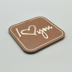 Designy -  I love you | chocolate with message | 100% Lindt bar | chocolate gift | admission