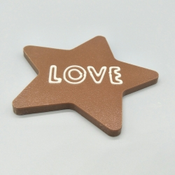 Smally -  Love with Heart | chocolate with message | 1/2 Lindt bar | chocolate gift | smaller occasions