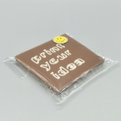 Smally - Love with heart   巧克力与消息   1/2 瑞士莲巧克力棒酒吧   巧克力礼品   较小的场合