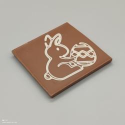 巧克力心与印刷的心