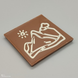 Smally - Schokolade mit Schweizer Design| 1/2 Lindt-Tafel | Schokoladengeschenk | Souvenirs