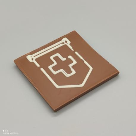 Smally - Schokolade mit Schweizer Fahne| 1/2 Lindt-Tafel | Schokoladengeschenk | Souvenirs