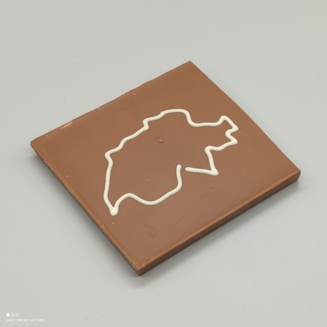 Smally - Schokolade mit Schweizerkarte| 1/2 Lindt-Tafel | Schokoladengeschenk | spezielle Momente