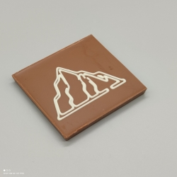 Smally - chocolate with Swiss mountain | 1/2 Lindt bar | chocolate gift | Souvenir
