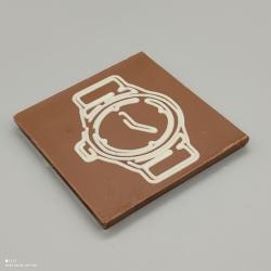 Smally - Schokolade mit Schweizer Souvenir| 1/2 Lindt-Tafel | Schokoladengeschenk | Souvenir