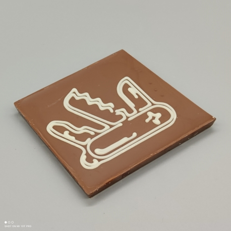 Smally - chocolate with Swiss knife | 1/2 Lindt bar | chocolate gift | souvenirs