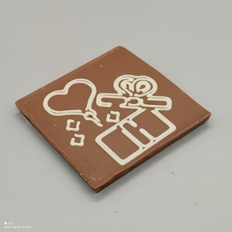 Smally - Herzlichen Dank| Schokolade mit Nachricht | 1/2 Lindt-Tafel | Schokoladengeschenk | kleinere Anlässe