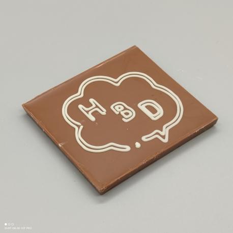 """Smally - Schokoladen Desing """"Sprechblase""""  Schokolade mit Nachricht   1/2 Lindt-Tafel   Schokoladengeschenk   kleinere Anlässe"""