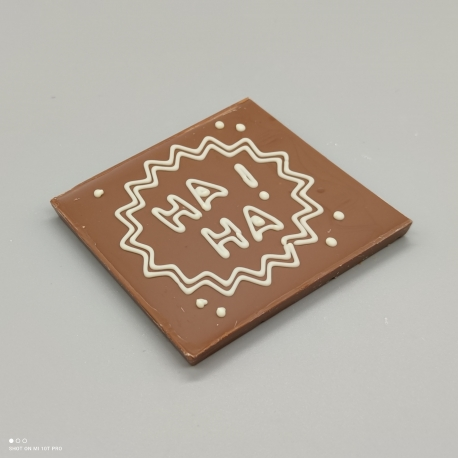 """Smally -  chocolate design """"haha"""" 