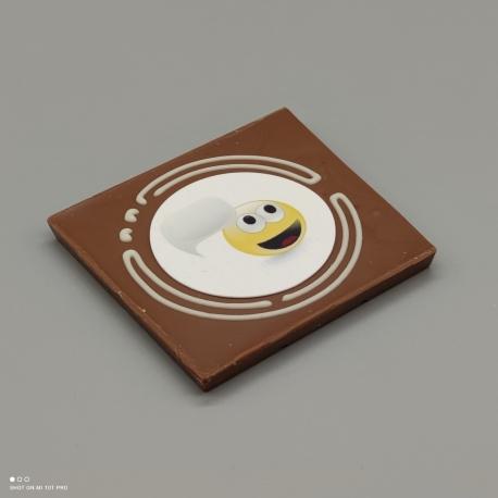 "Grafly - Schokoladen Grafik ""smile Sprachblase""  1/2 Lindt-Tafel   Schokoladengeschenk   spezielle Momente"