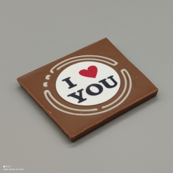 Grafly -  love graphic design | chocolate with message | 1/2 Lindt bar | chocolate gift | smaller occasions