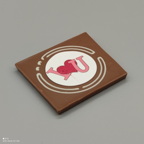 Smally - Liebe Grafik Design| Schokolade mit Nachricht | 1/2 Lindt-Tafel | Schokoladengeschenk | kleinere Anlässe