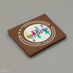 Grafly -  chocolate graphic | 1/2 Lindt bar | chocolate gift | birthday