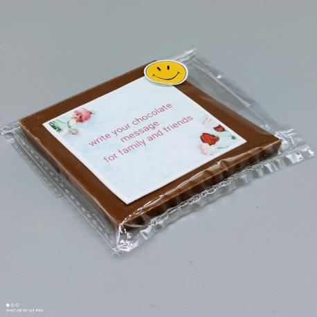 Grafly - chocolate graphic | 1/2 Lindt bar | chocolate gift | easter holiday